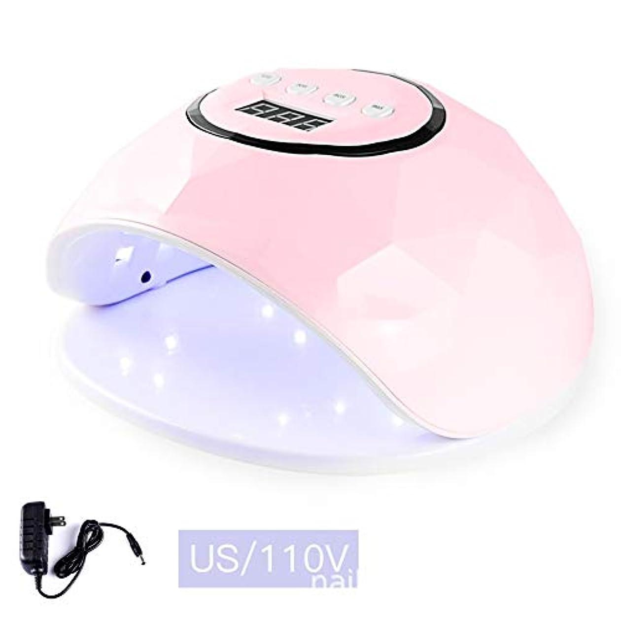 経営者コーンウォールマーカーLittleCat F5インテリジェントセンサー72W LEDランプライト療法機械ネイルネイルポリッシュドライヤーの熱ランプガム (色 : Pink 110V flat plug 72 watts)