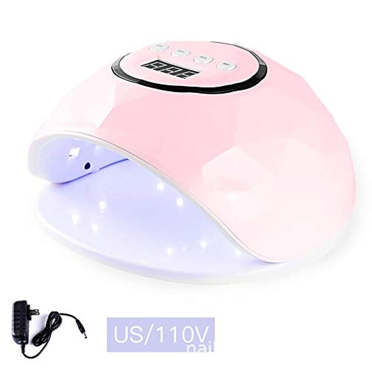 心理学自然過度のLittleCat F5インテリジェントセンサー72W LEDランプライト療法機械ネイルネイルポリッシュドライヤーの熱ランプガム (色 : Pink 110V flat plug 72 watts)