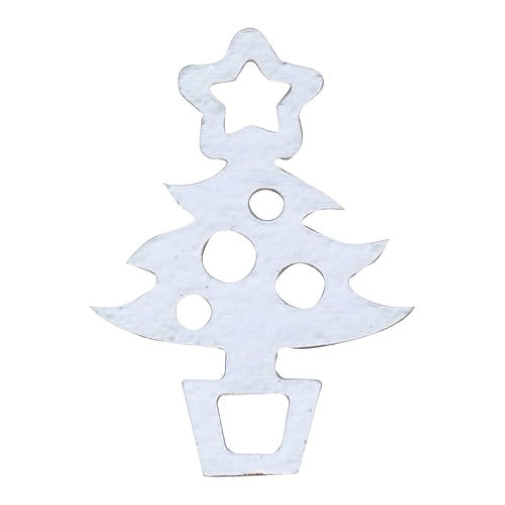 類似性家禽ご予約リトルプリティー ネイルアートパーツ クリスマスツリー シルバー 10個