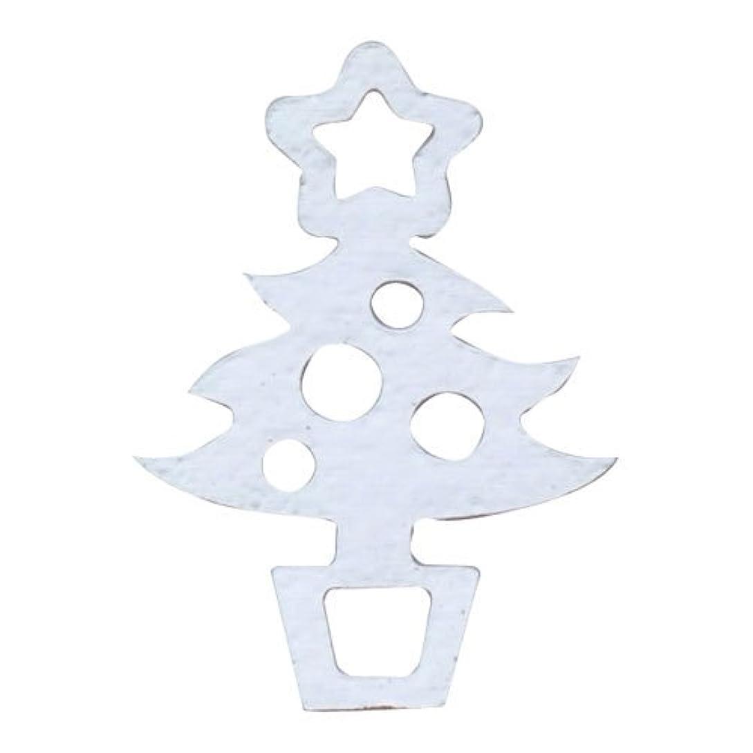 貪欲クマノミ発掘リトルプリティー ネイルアートパーツ クリスマスツリー シルバー 10個