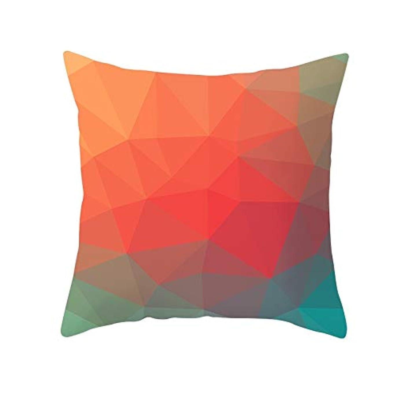 和らげる予防接種する平らなLIFE 装飾クッションソファ 幾何学プリントポリエステル正方形の枕ソファスロークッション家の装飾 coussin デ長椅子 クッション 椅子