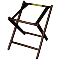 Old Dominion A-2 Walnut Finish Hardwood 24 High Infant Carrier Stand by Old Dominion Wood Products