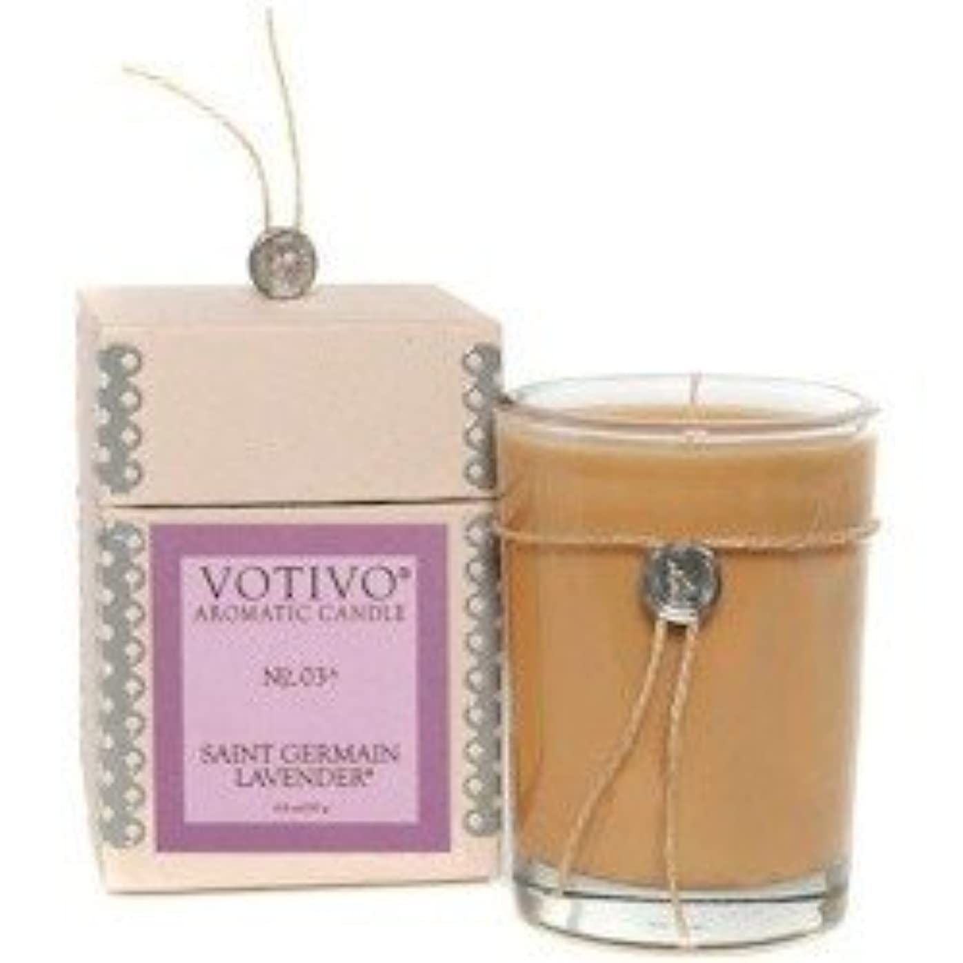 酔っ払いうめき声ソビエトVOTIVO AROMATIC CANDLE ST.GERMAIN LAVENDER