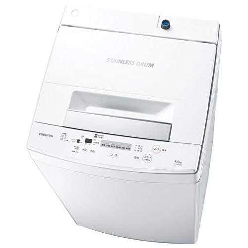 東芝 4.5kg 全自動洗濯機 ピュアホワイトTOSHIBA...