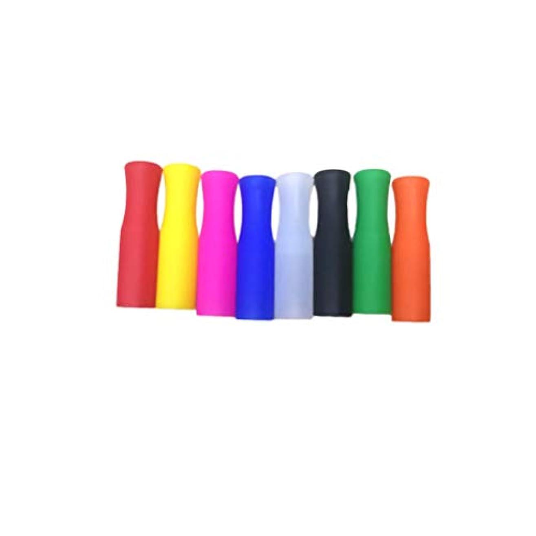 化合物廃棄ボランティアHealifty シリコンストローチップ、多色食品グレードストローチップスステンレスストロー用ストロー(ランダムカラー)