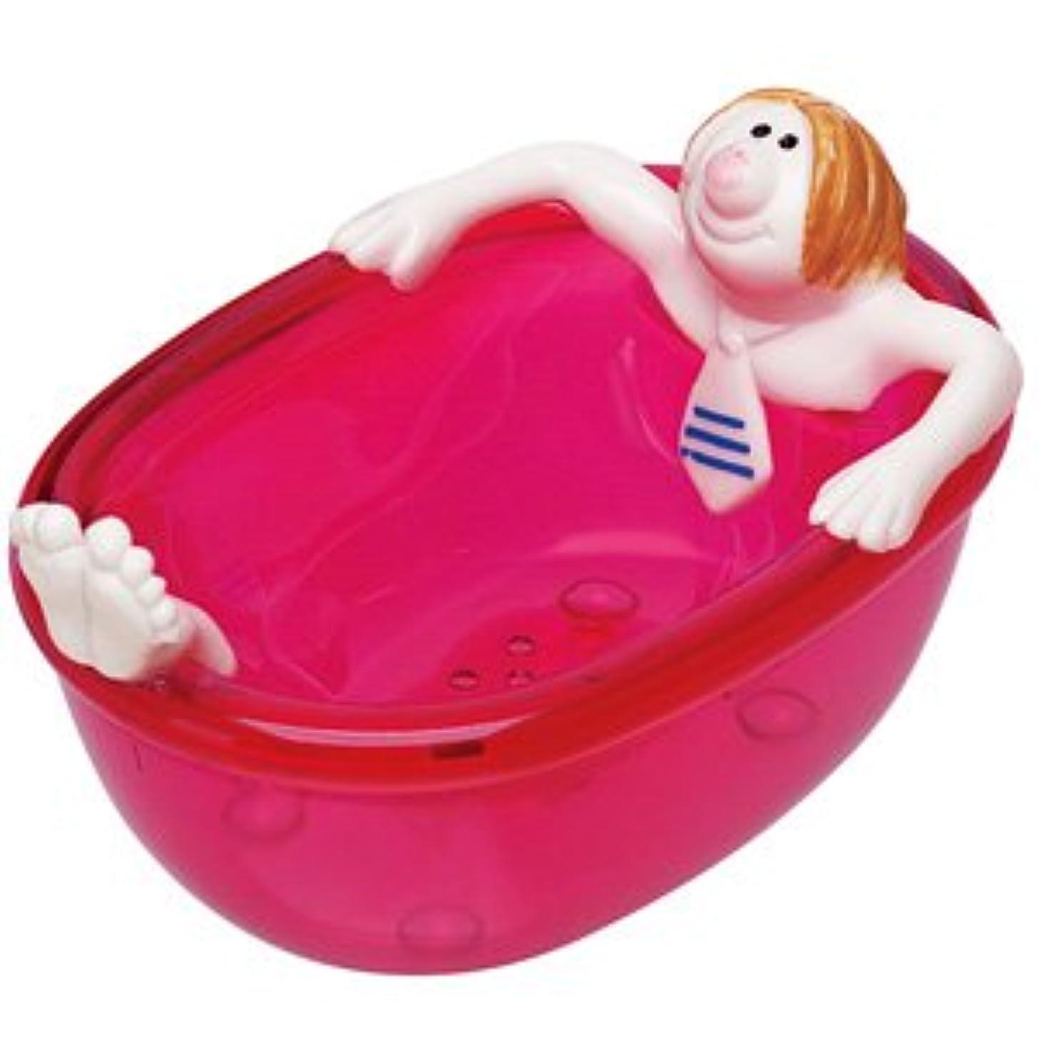 ワインママ存在ジャブジャブ石鹸箱 レッド
