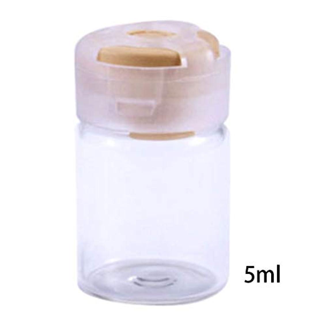 娘かき混ぜる実際Dabixx 5ミリリットル甘いキャンディーカラーフタ空瓶密封滅菌血清クリアガラスバイアル付きゴム栓エッセンシャルオイルコンテナ - 黄