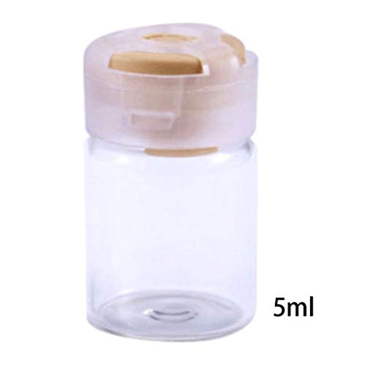 麻痺させるこねる曖昧なDabixx 5ミリリットル甘いキャンディーカラーフタ空瓶密封滅菌血清クリアガラスバイアル付きゴム栓エッセンシャルオイルコンテナ - 黄
