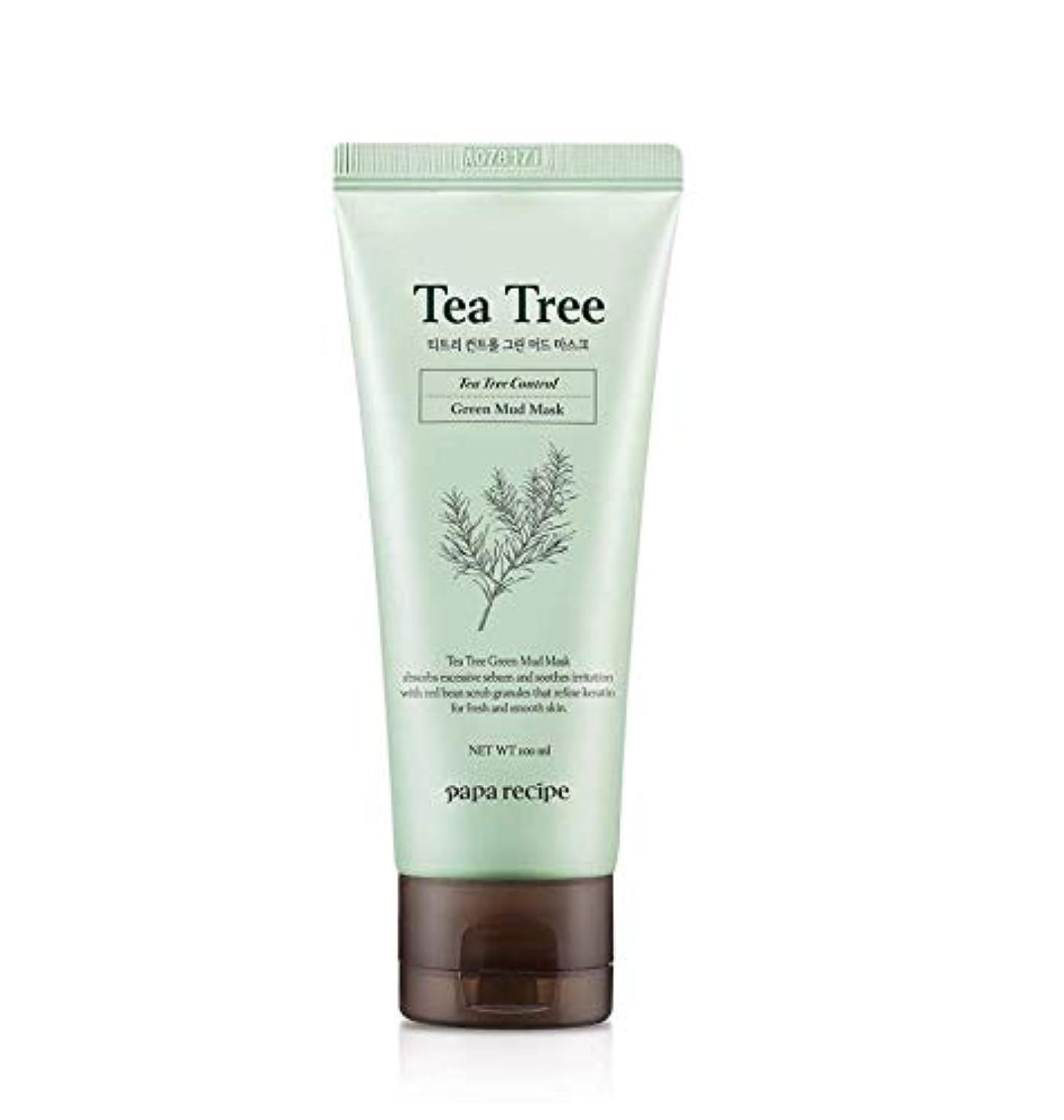 こんにちはテニスナプキンPaparecipe (パパレシピ) ティーツリー コントロール グリーン マッド マスク/Tea Tree Control Green Mud Mask (100ml) [並行輸入品]