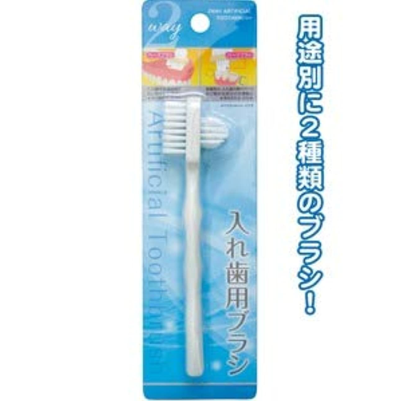 巡礼者細分化する無効にする2Way入れ歯用ブラシ 41-233【12個セット】