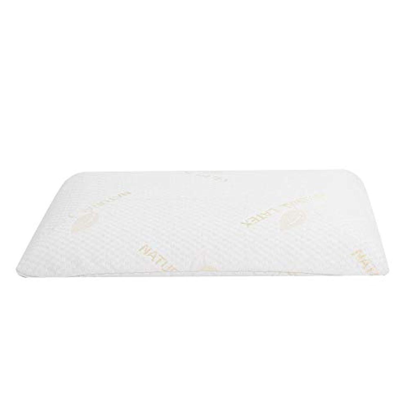 数学的なテレビ局保険ラテックス枕、首と肩の痛みのための睡眠の自然な高い整形外科顆粒マッサージデザインのための豪華な記憶枕