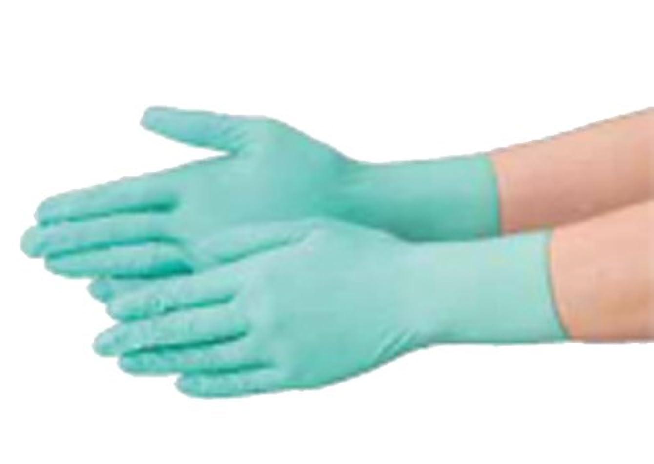 企業動かない症候群使い捨て 手袋 エブノ 571 ニトリル グリーン Lサイズ パウダーフリー 2ケース(100枚×60箱)