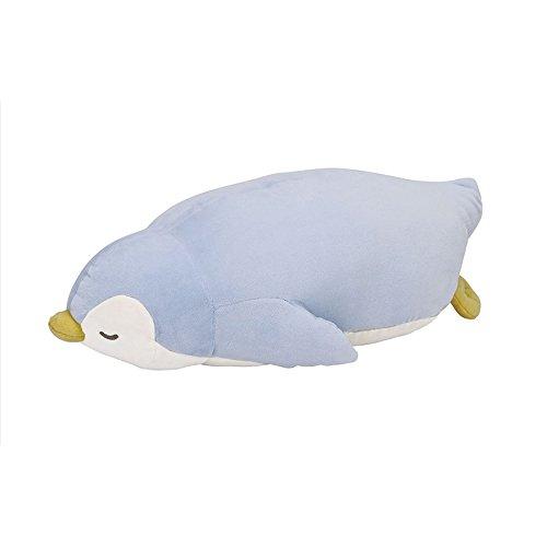 りぶはあと ねむねむプレミアム抱きまくらLサイズ ブルーペンギン 60x32x18cm 28977-61