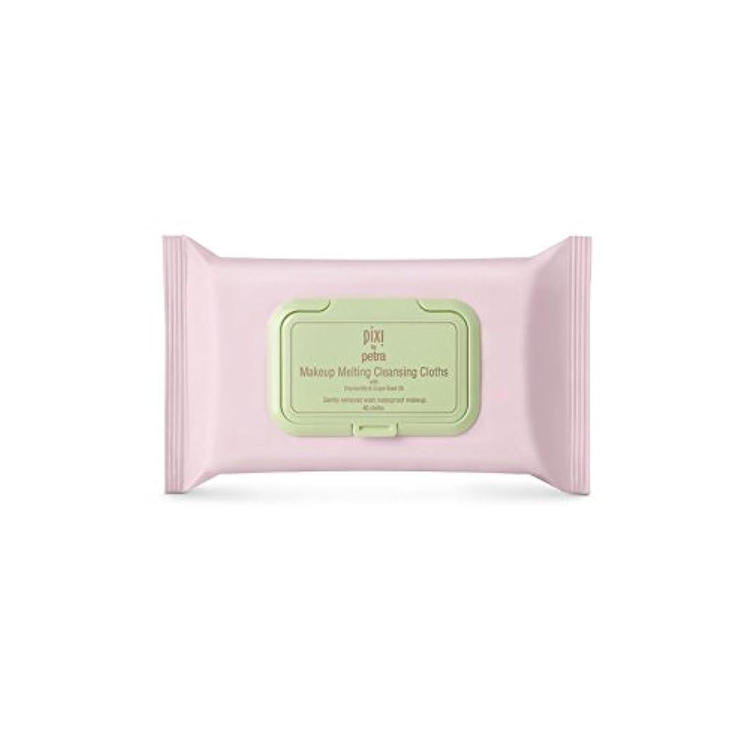 ミニ証言エージェント化粧溶融クレンジングクロス x2 - Pixi Makeup Melting Cleansing Cloths (Pack of 2) [並行輸入品]