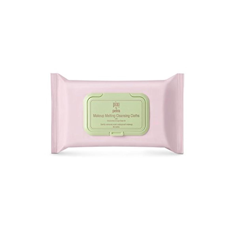 小さいバスケットボール前方へ化粧溶融クレンジングクロス x4 - Pixi Makeup Melting Cleansing Cloths (Pack of 4) [並行輸入品]