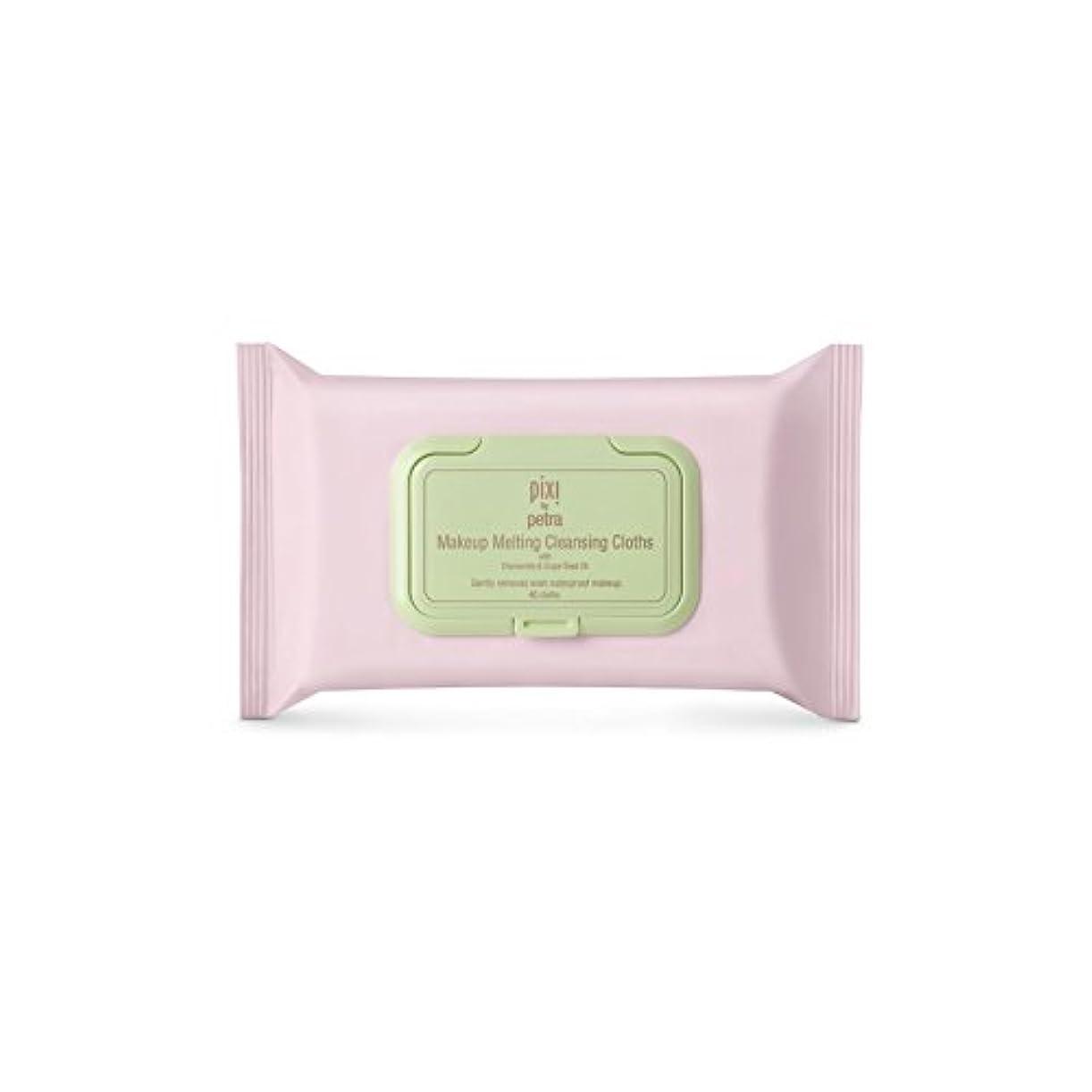 白いレモン滑り台化粧溶融クレンジングクロス x2 - Pixi Makeup Melting Cleansing Cloths (Pack of 2) [並行輸入品]