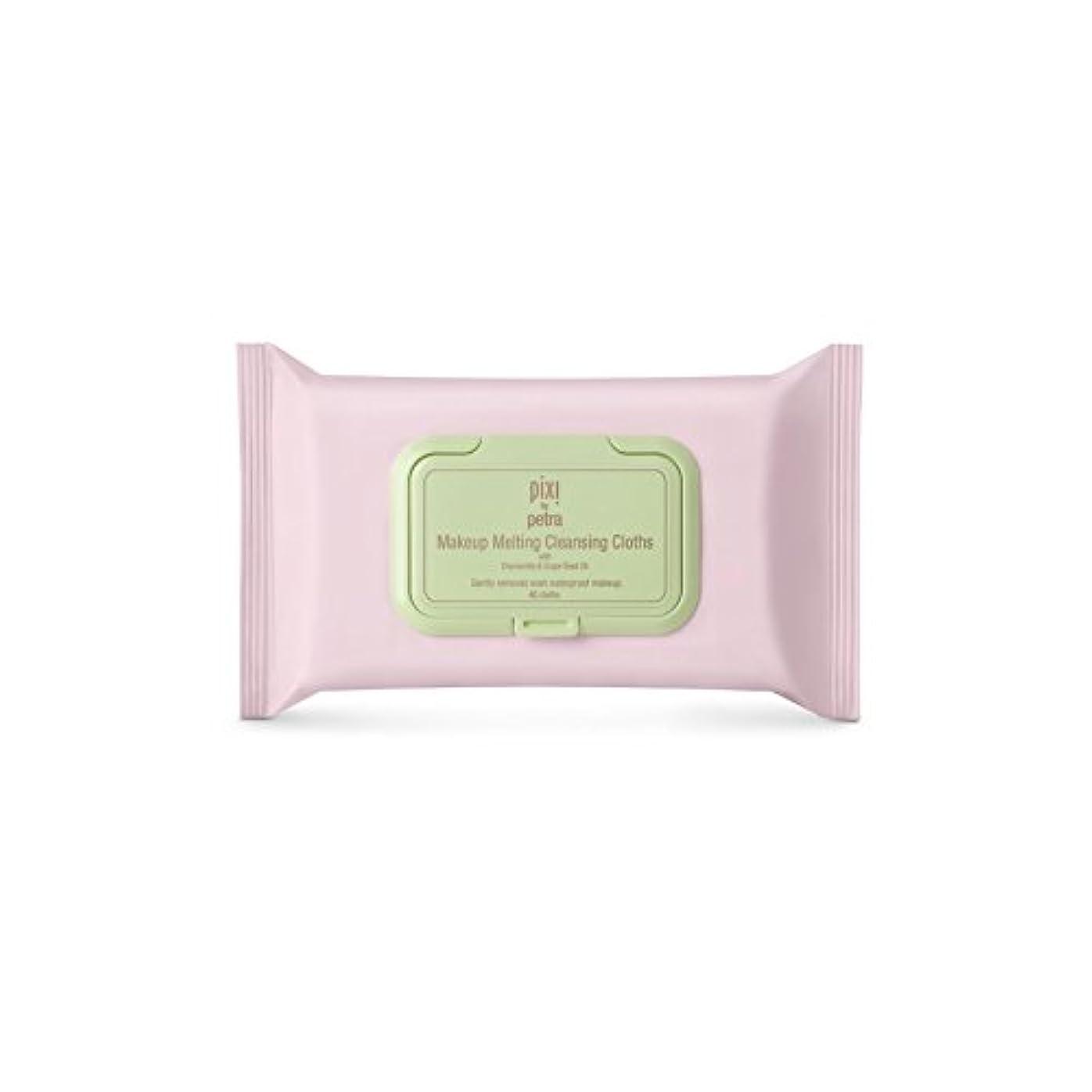 タンク適用済み半導体化粧溶融クレンジングクロス x4 - Pixi Makeup Melting Cleansing Cloths (Pack of 4) [並行輸入品]