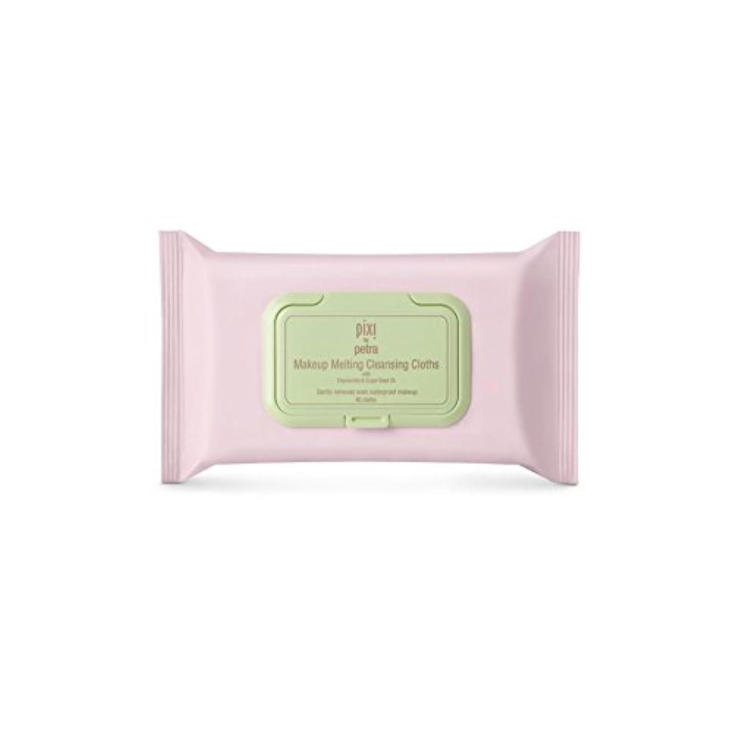 化粧溶融クレンジングクロス x2 - Pixi Makeup Melting Cleansing Cloths (Pack of 2) [並行輸入品]