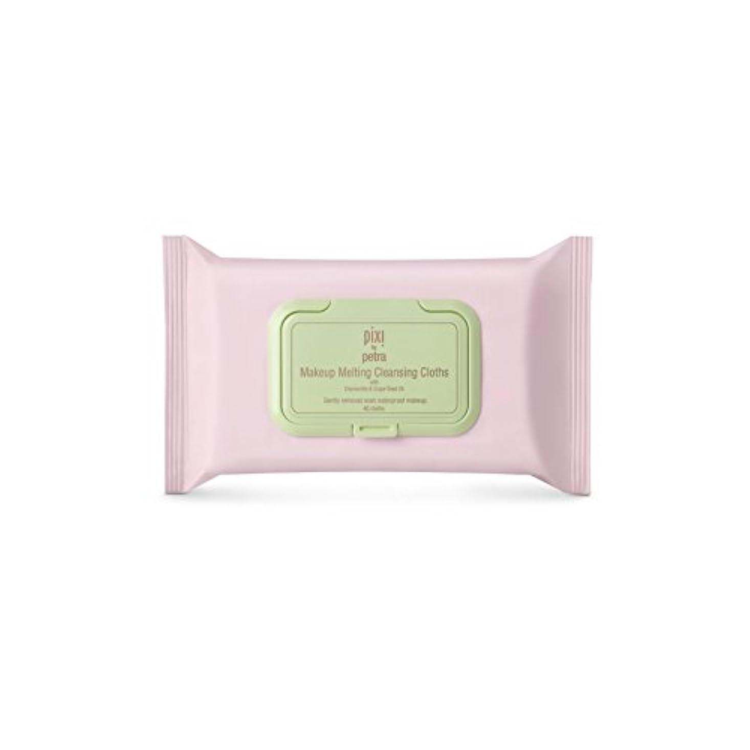 化粧溶融クレンジングクロス x4 - Pixi Makeup Melting Cleansing Cloths (Pack of 4) [並行輸入品]