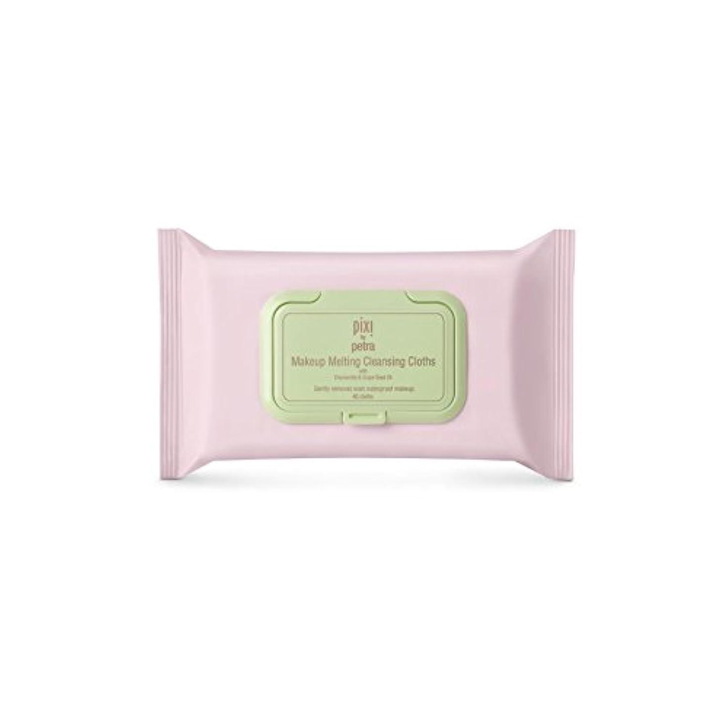 小さなワーディアンケース断片化粧溶融クレンジングクロス x2 - Pixi Makeup Melting Cleansing Cloths (Pack of 2) [並行輸入品]