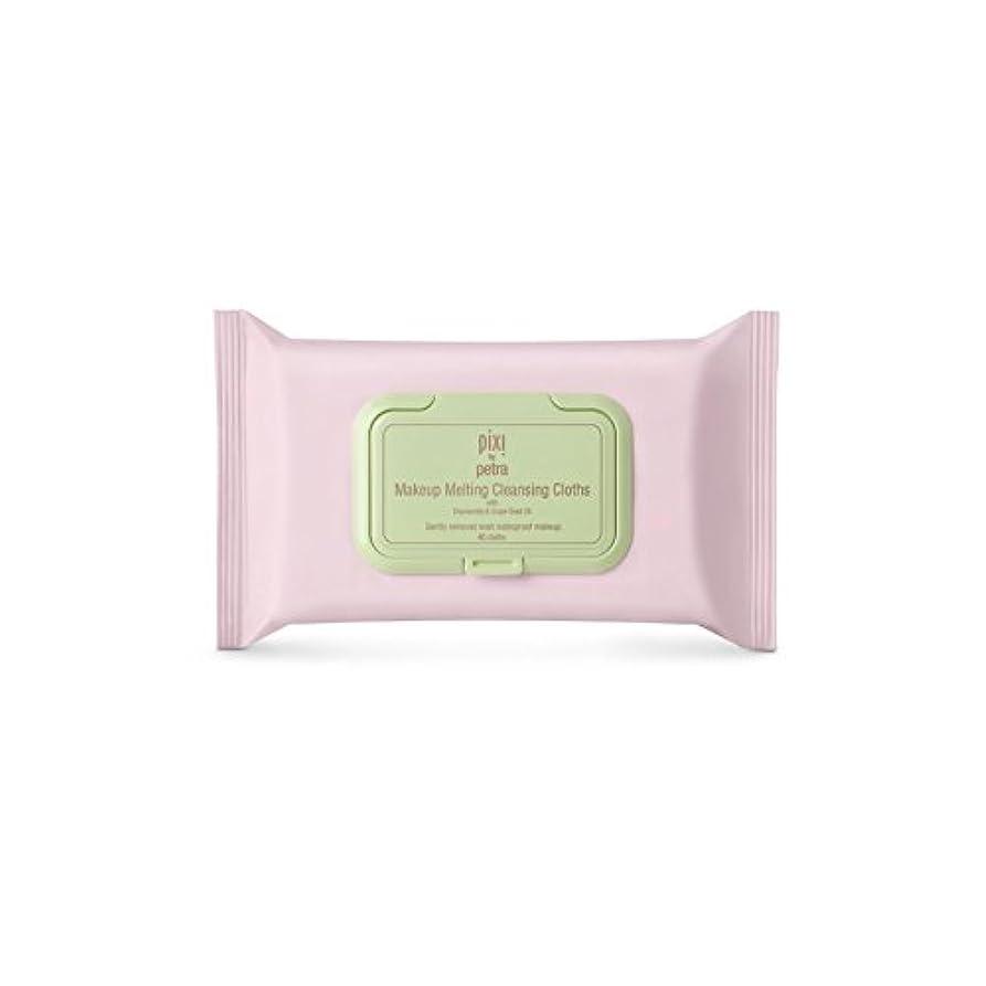 静けさモネ来て化粧溶融クレンジングクロス x2 - Pixi Makeup Melting Cleansing Cloths (Pack of 2) [並行輸入品]