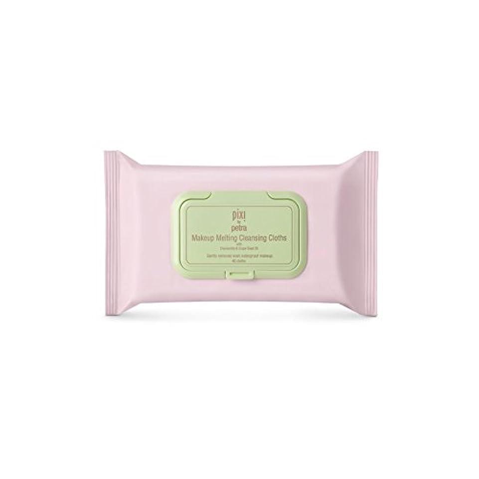 アクティブ気分が悪い泥棒化粧溶融クレンジングクロス x2 - Pixi Makeup Melting Cleansing Cloths (Pack of 2) [並行輸入品]