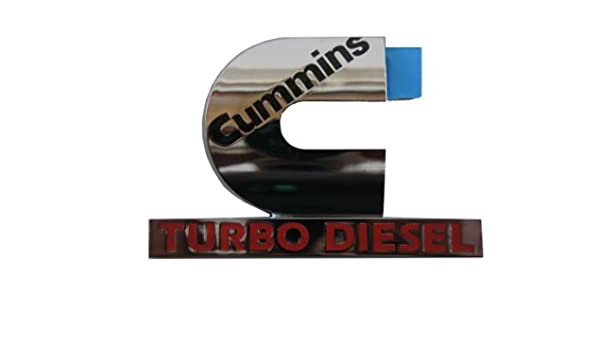 Chrysler Genuine Accessories 55077329AB Cummins Turbo Diesel Emblem