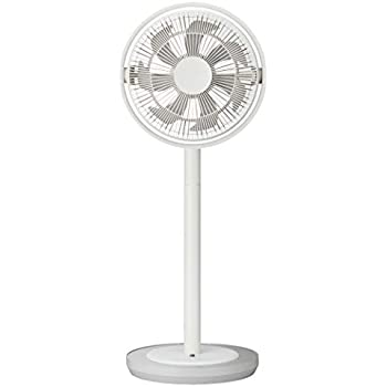 カモメファン 扇風機 リビングファン 28cm 首振り リモコン付き ホワイト FKLU-281D WH