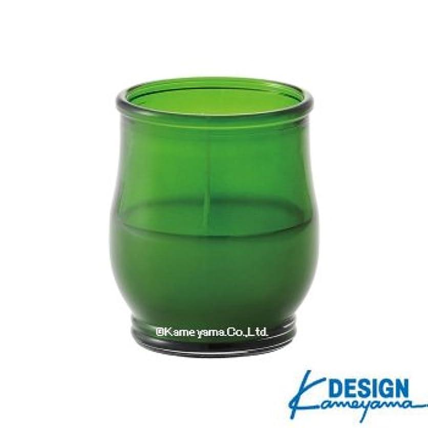 エンドテーブルコットン側面カメヤマキャンドル グラスキャンドル ポシェ ex グリーン 6個セット