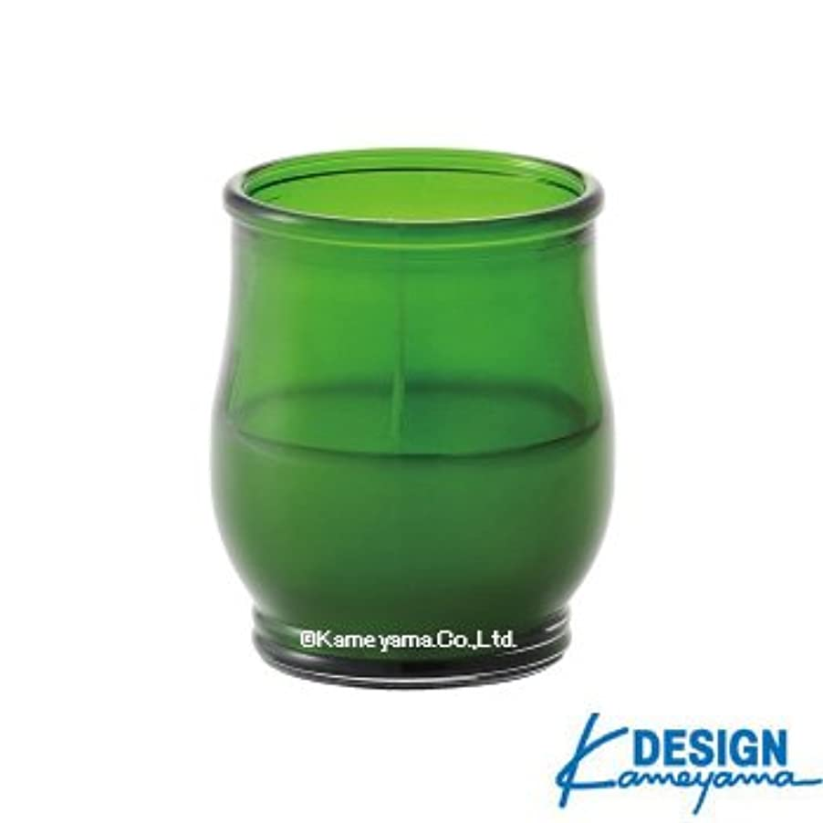 影のある素晴らしい良い多くのガジュマルカメヤマキャンドル グラスキャンドル ポシェ ex グリーン 6個セット