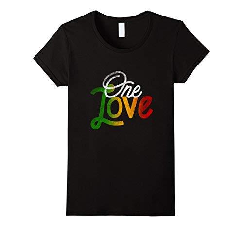 Womens One Love Heart Rasta Re...