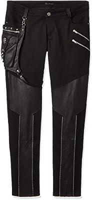 DEVIL FASHION ゴシックパンク ロングパンツ ブラック メンズ XLサイズ DF-PT02101-MXL