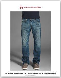 【メンズ】The Protege Straight Leg usa13year ウォッシュストレートデニム エージージーンズ