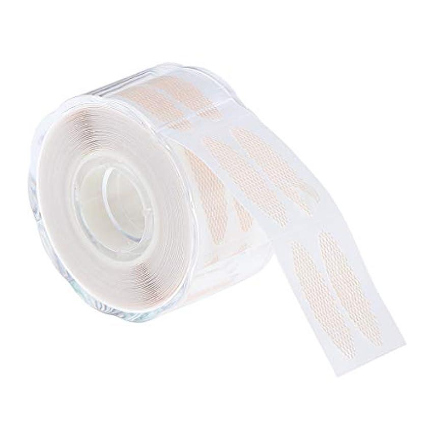 手紙を書く層微生物二重まぶた テープ ステッカー メッシュ 粘着テープ 肌の色 通気性 アイメイク道具 全3サイズ - 2.5×1.2 cm