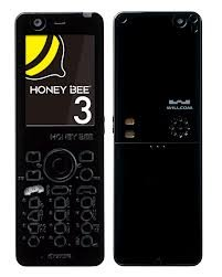 京セラ Willcom HONEY BEE 3 WX333K 白ロム (ブラック)