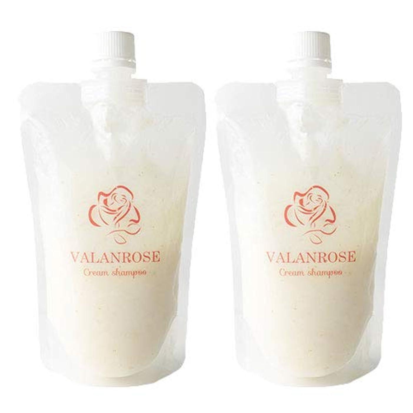 操作可能水っぽいステップバランローズ クリームシャンプー2個×1セット VALANROSE Cream shampoo/シャンプー クリームシャンプー 髪 ヘアケア