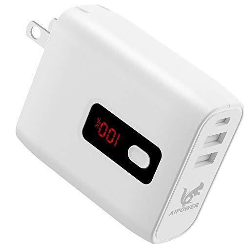 日本メーカー モバイルバッテリー 折畳式AC 急速充電 残量数字表示 5000mAh 飛行機 モバイルバッテリー コンセント USB2ポート急速充電器 スマホ 電源コンセント PSE認証済 モバイルバッテリー 軽量 iphone モバイル バッテリー