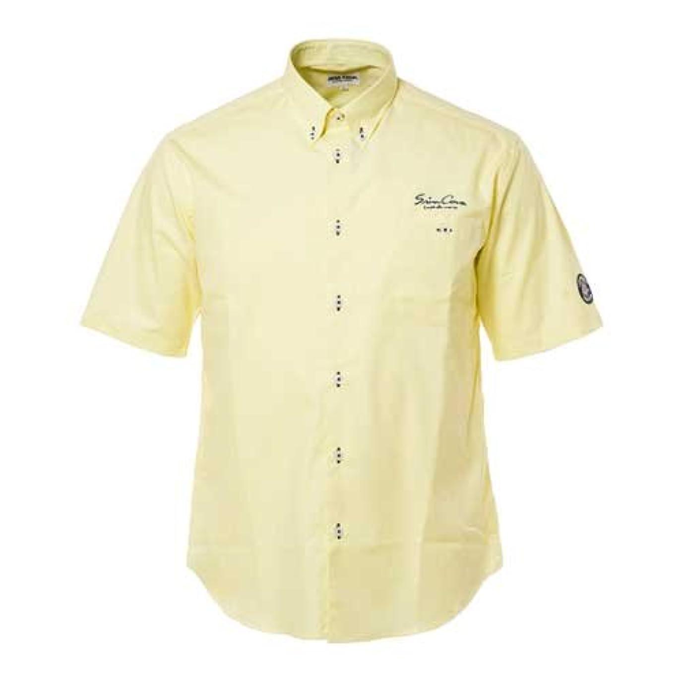 お世話になった物足りない症候群(シナコバ) SINA COVA 半袖ボタンダウンシャツ ライトイエロー Lサイズ