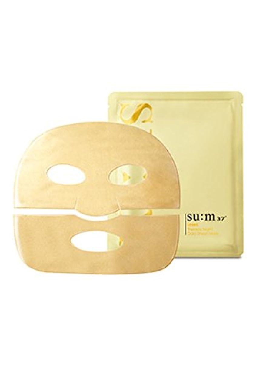 有彩色の間独立してsu:m37° Losec Therapy Night Gold Sheet Mask 7Sheets/スム37° ロセック セラピー ナイト ゴールド シートマスク 7枚