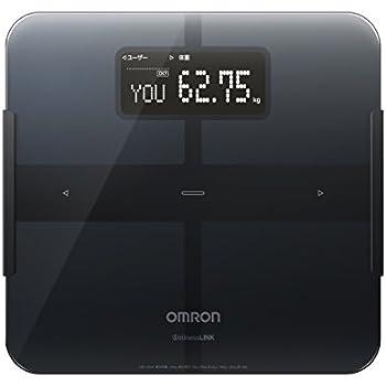 オムロン  【自動電源ON】【4秒測定】【体重50g単位表示】【PC/スマホ対応 Wi-Fi通信機能搭載】体重体組成計 カラダスキャン HBF-253W-BK