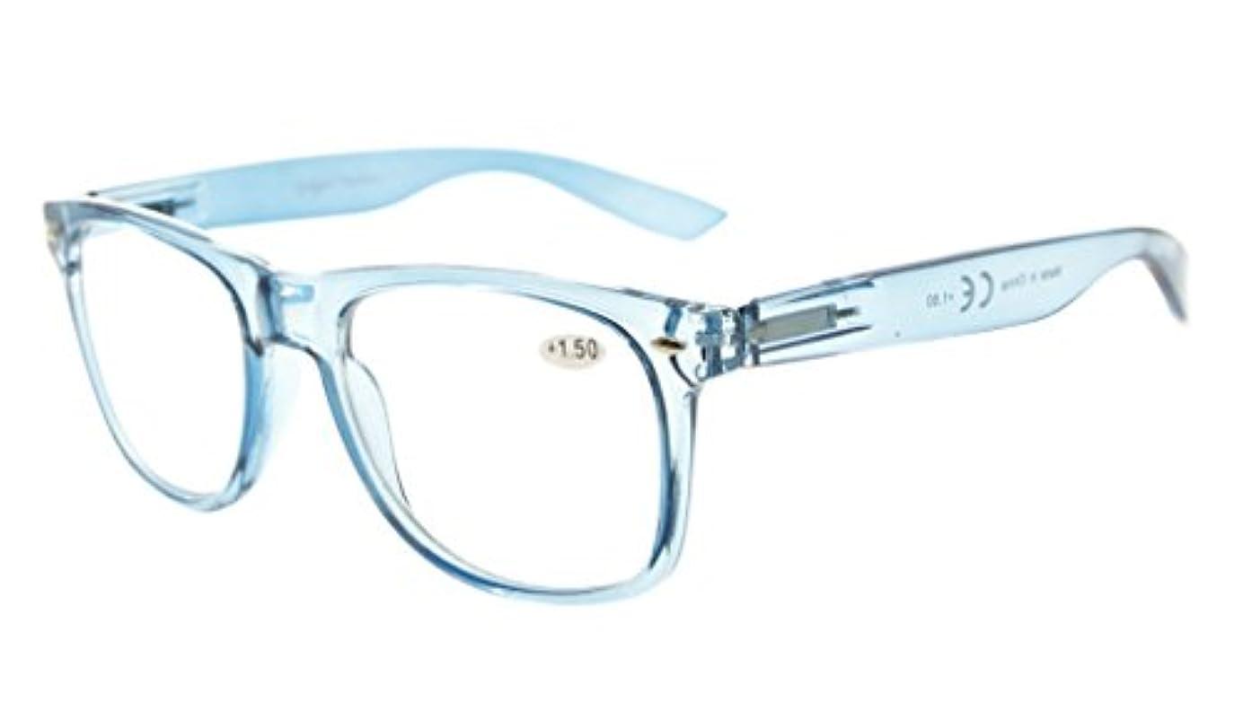 アイキーパー(Eyekepper)掛け心地が良い 読書用 バネ蝶番付き 大きめ シンプル リーディンググラス シニアグラス 老眼鏡 処方箋 拡大(ブルー,+0.75)