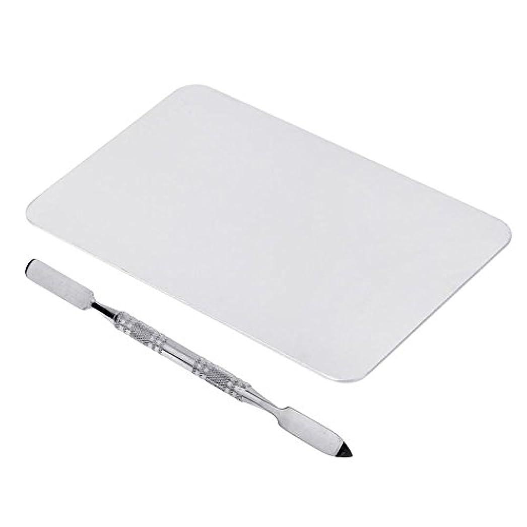 SODIAL 2色のメイクパレットマニキュア、メイクアップ、アイシャドウパレットパレットセット12cm