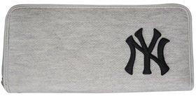 イーカム MLB 長財布 ニューヨークヤンキース 杢調 YK-WLT01 (グレイ)
