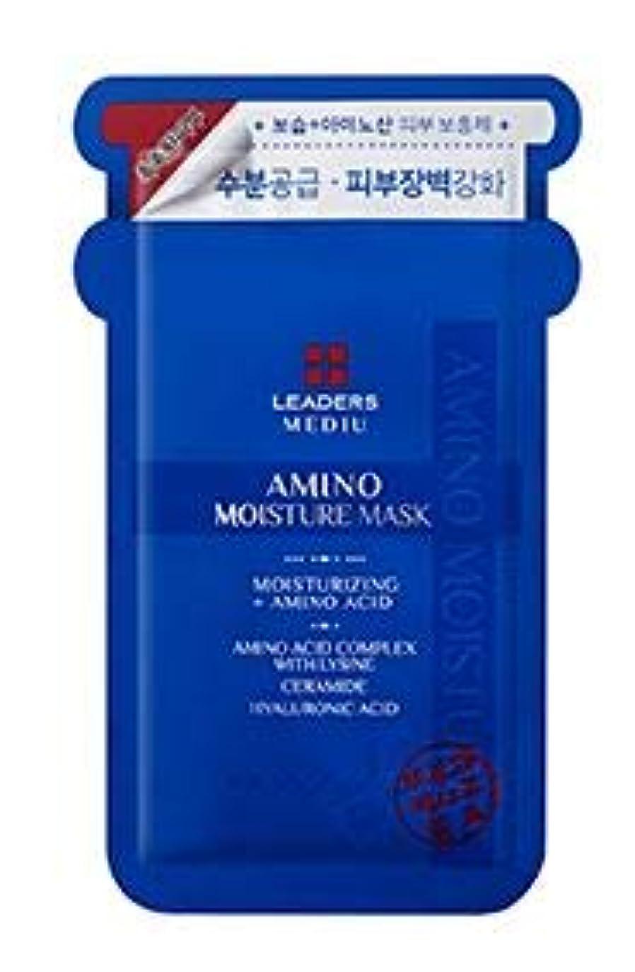 引き付ける家族かる[LEADERS] MEDIU Amino Moisture Mask 25ml*10ea / リーダースアミノモイスチャーマスク 25ml*10枚 [並行輸入品]