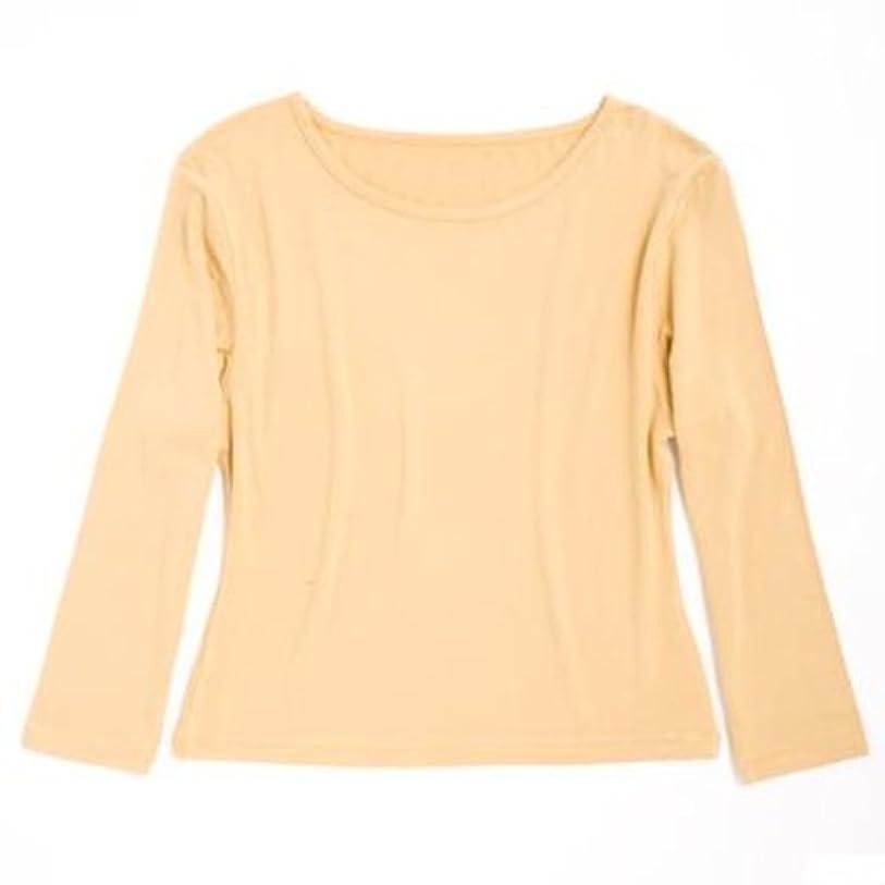 怪物公式ピック竹スタイル クルーネック七分袖Tシャツ レディース カラシ L