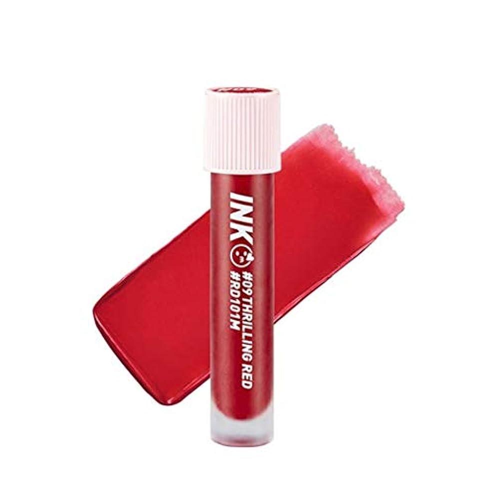 予測子障害助けてペリペラインクマトゥブラーティントリップティント韓国コスメ、Peripera Ink Matte Blur Tint Lip Tint Korean Cosmetics [並行輸入品] (#09 Thrilling Red)