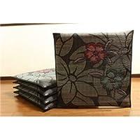 純国産/日本製 袋織 織込千鳥 い草座布団 『なでしこ 5枚組』 ブルー 約60×60cm×5P ds-862387