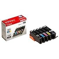 (まとめ) キヤノン Canon インクタンク BCI-351+350/5MP 5色マルチパック 標準 6552B003 1箱(5個:各色1個) 【×3セット】