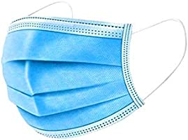 Australian Local Stock 50 Pack Disposable Face Non-Woven Fabrics with Elastic Ear Loop, 3 Ply Breathable and Comfortable...
