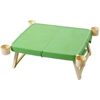 キャプテンスタッグ(CAPTAIN STAG) テーブル ホルン ハンディーテーブルカップ付 グリーン MP-953